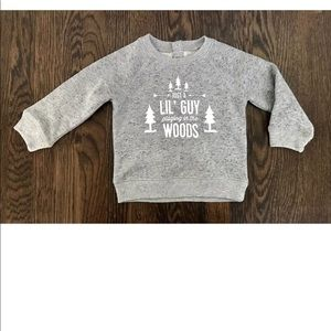 Joe Fresh baby boy gray print sweatshirt sz 12-18M